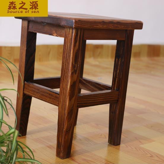 新款正方形实木矮板凳子 正方小板凳 直销半手工制作中式古典餐椅图片