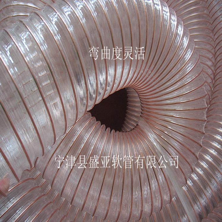 大型木工机械厂专用环保型PU吸尘管 耐负压高 耐磨损性强
