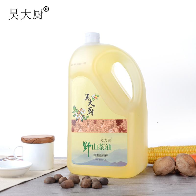 吴大厨野生山茶油5l食用油茶籽油月子油孕妇宝宝月子油健康油