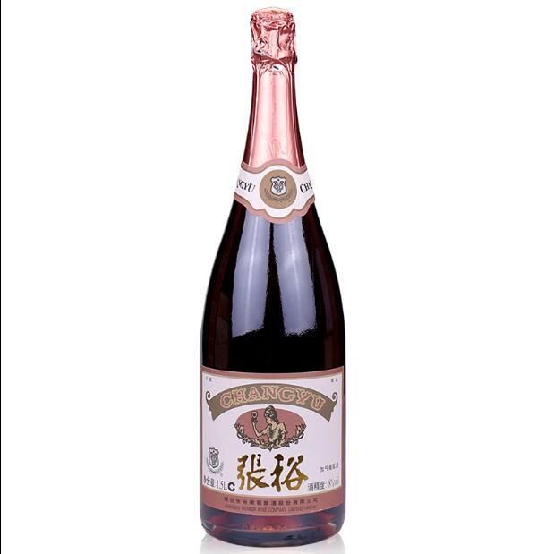 供应 正品张裕加气葡萄酒起泡酒 1.5L开业庆典婚礼香槟塔用低度酒