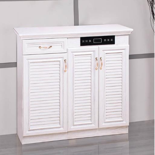 定制 铝合金白橡木智能鞋柜 储存空间大带烘干除臭擦鞋功能 防火防潮