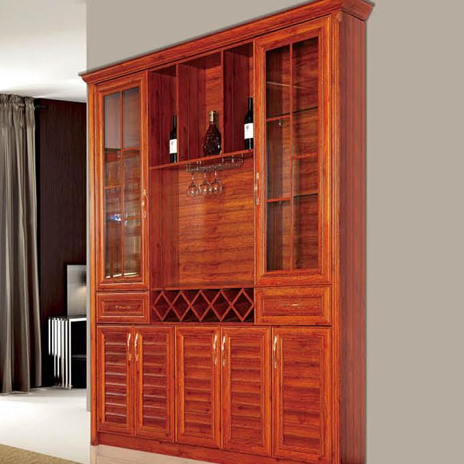 爱兴亚高端定制全铝家具 实木纹铝合金酒柜 铝艺置物架 节能环保