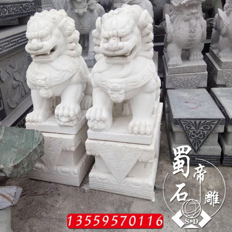 供应石材狮子 门口石雕狮子 花岗岩狮子订做 做工精湛