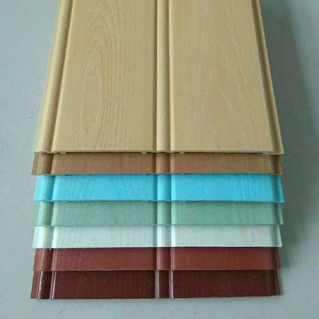 竹木纤维200圆槽大板 集成墙面装饰 快装竹木纤维板