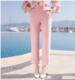 供应直筒纯色梭织休闲裤中腰气质淑女长裤女