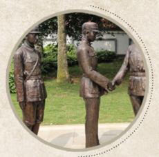 供应红军人物雕塑 步行街小区广场公园铸铜雕塑摆件 金属雕塑