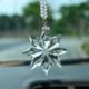 供应 新款水晶雪花汽车挂件 创意汽车内饰用品保平安