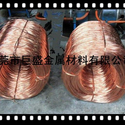 供应电子五金拉线铜端子专用红铜线 T2红铜线厂家直销