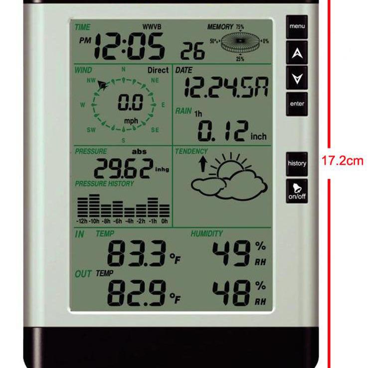 无线气象仪WH-2081 室内外温度湿度