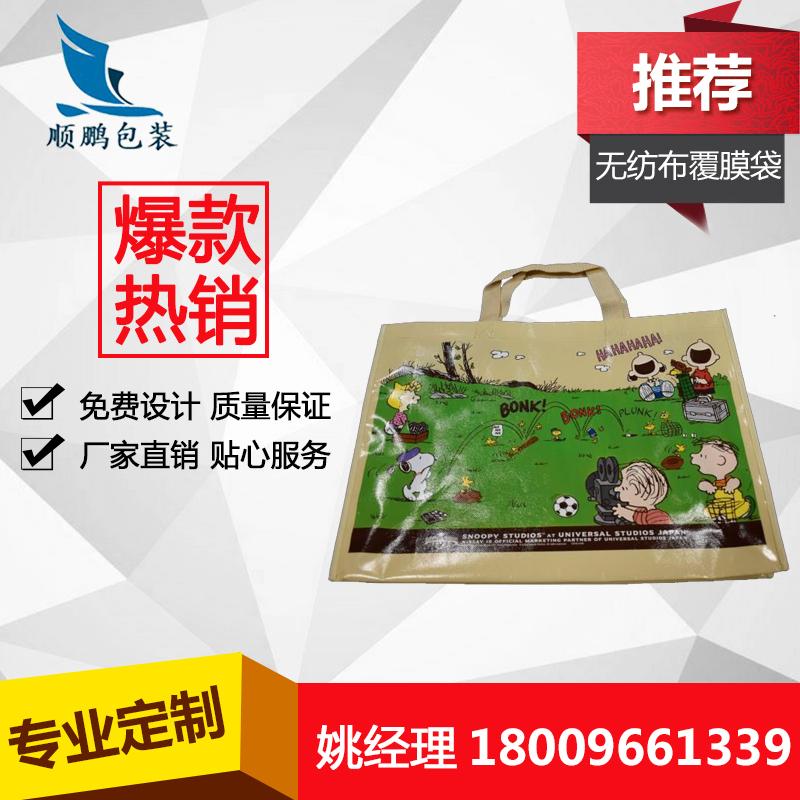 厂家定制手提环保袋彩色广告无纺布覆膜袋