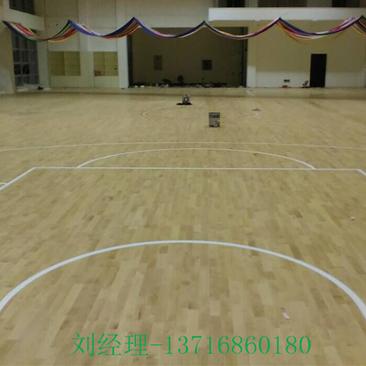 篮球木地板 实木地板规格 运动木地板厂家直销包安装