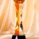 供应 2018新款白水晶 简约现代几何形状五角星图形 颁奖水晶奖杯规格80-80-290