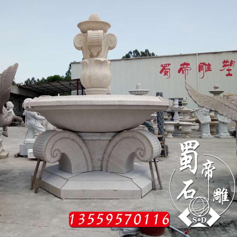 石雕喷泉 石雕水钵 大型广场景观喷泉 福建厂家