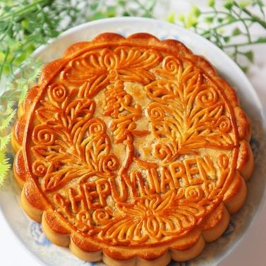 广西北海合浦特产广式五仁叉烧月饼500g  传统糕点核桃仁杏仁等材料制成