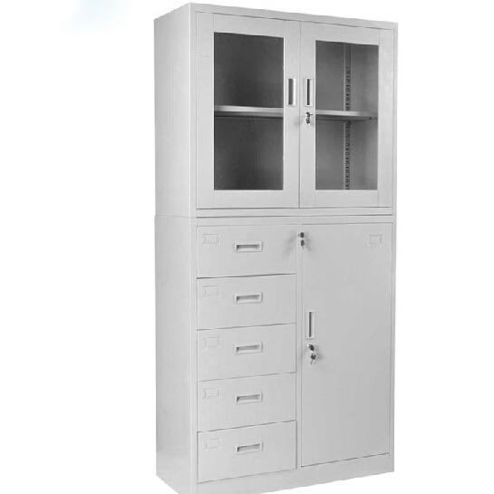 重庆钢制办公室档案文件柜子铁皮书柜资料柜财务储物凭证柜带锁