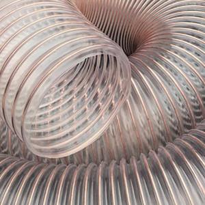 山实吸尘pu钢丝伸缩管 通风排气软管 pu钢丝塑料管
