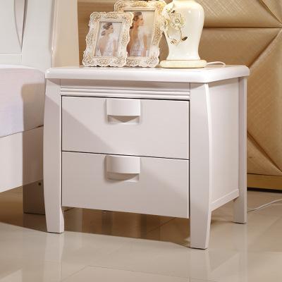 供应 端午特价 实木床头柜 搭配床效果图 厂家直销 家具产业基地货源