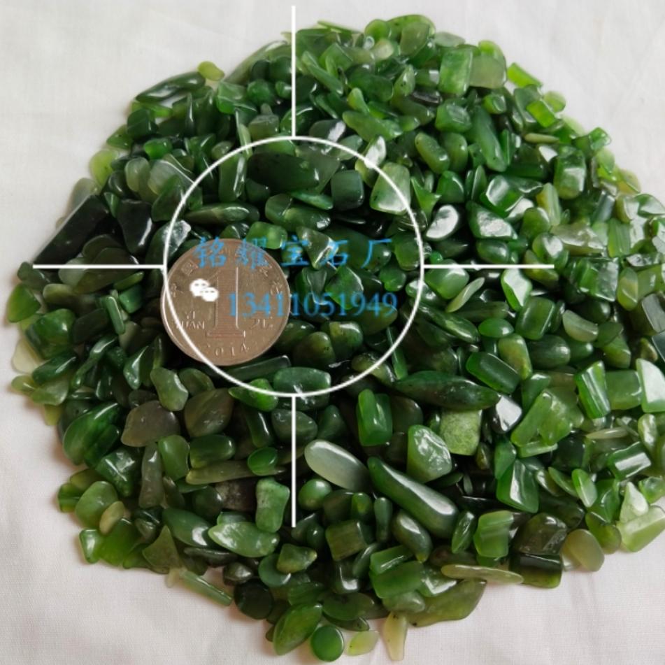 厂家直销 供应天然碧玉碎石 碧玉宝石不定形 碧玉宝石装饰材料