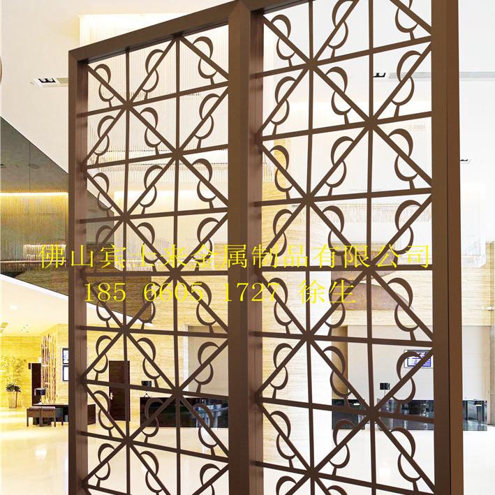 不锈钢屏风定制 不锈钢客厅屏风隔断 玫瑰金 钛金 黑金刚屏风