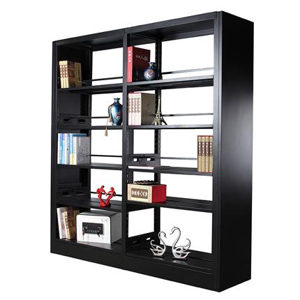 钢制书架组合单双面学校图书馆阅览室书架凭证架资料架陈列展示架