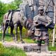渤言雕塑 玻璃钢仿铜马雕塑马帮托运雕塑 茶马古道雕塑 公园园林景观广场雕塑 小品雕塑
