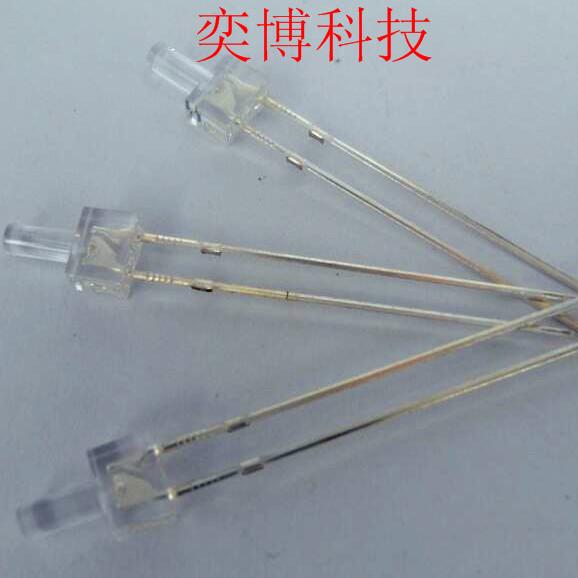 厂家直销发光二极管LED灯珠  直插2mm塔型白发蓝透明