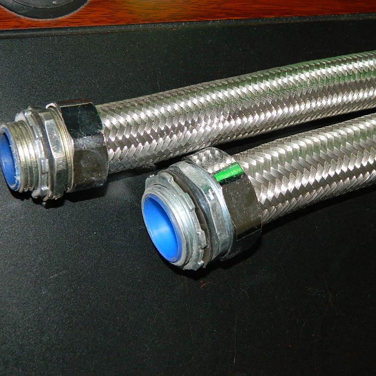 不锈钢丝编织防爆金属软管 电缆防尘防爆金属软管