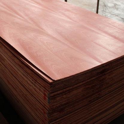 供应 天然木皮沙比利贴面板3.6mm