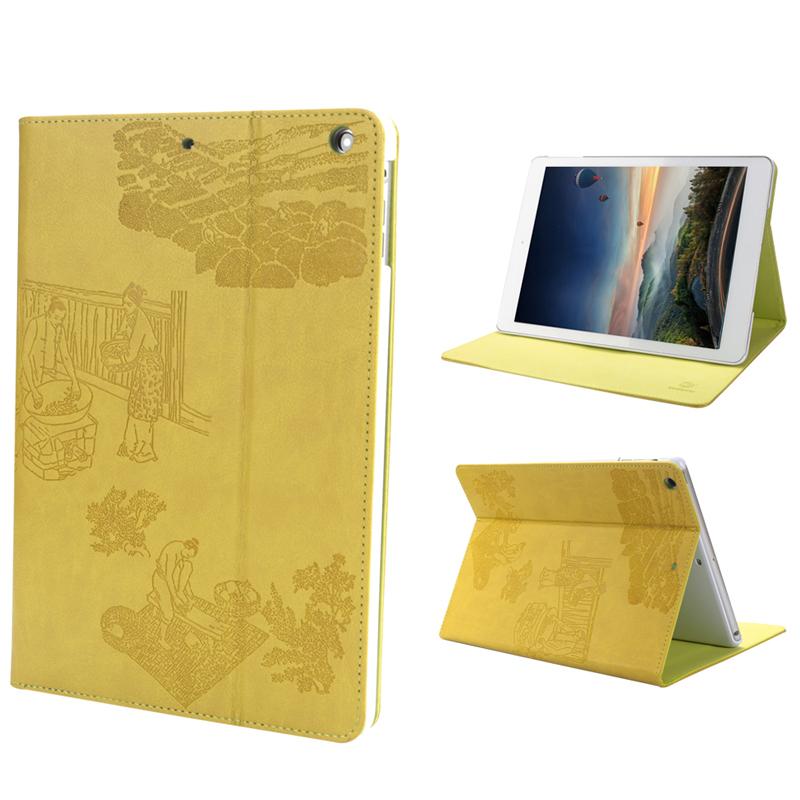 惠州iPad皮套带支架电压工艺9.7寸皮革平板保护壳工厂来图定制