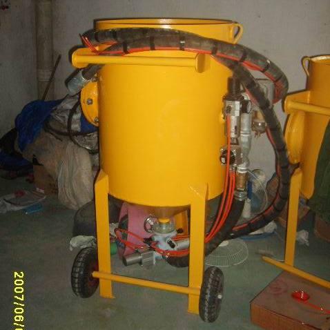 加压高压移动喷砂机 弯管开放式除锈喷砂机