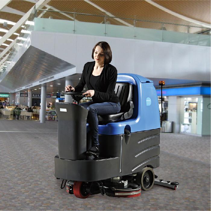 上海虹桥浦东机场高铁站专用容恩R125BT70大型驾驶式全自动自驱洗地机免费试机含税包邮