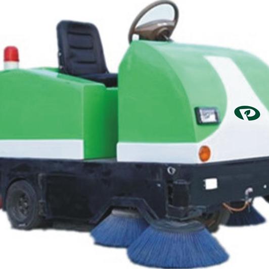 陕西普森环保节能电动驾驶式扫地车清扫车中小型电动太阳能光伏扫吸结合洒水一体机环卫保洁车除霾降尘扫地机