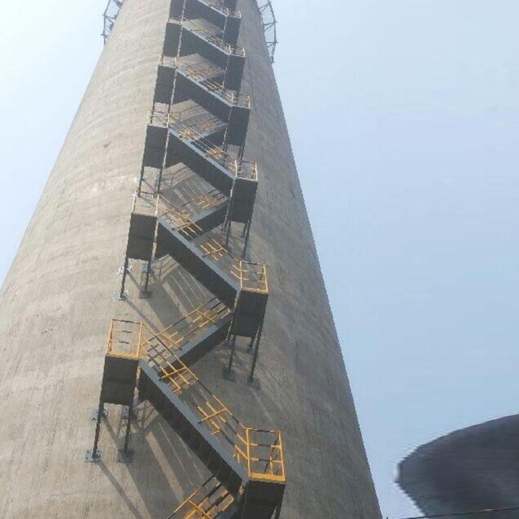 西安烟囱 Z梯 爬梯 旋转梯安装 特种作业专业施工队伍