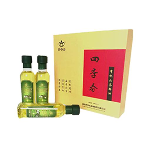 四季春有机茶油天然山茶油纯正野茶树茶籽油食用油 农家茶油礼盒体验装