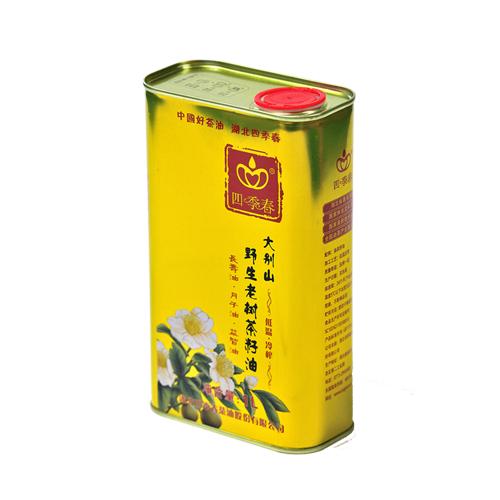 四季春茶油野生老树茶油1L金属罐装 山茶油 食用 茶籽油 茶子油 压榨 粮油