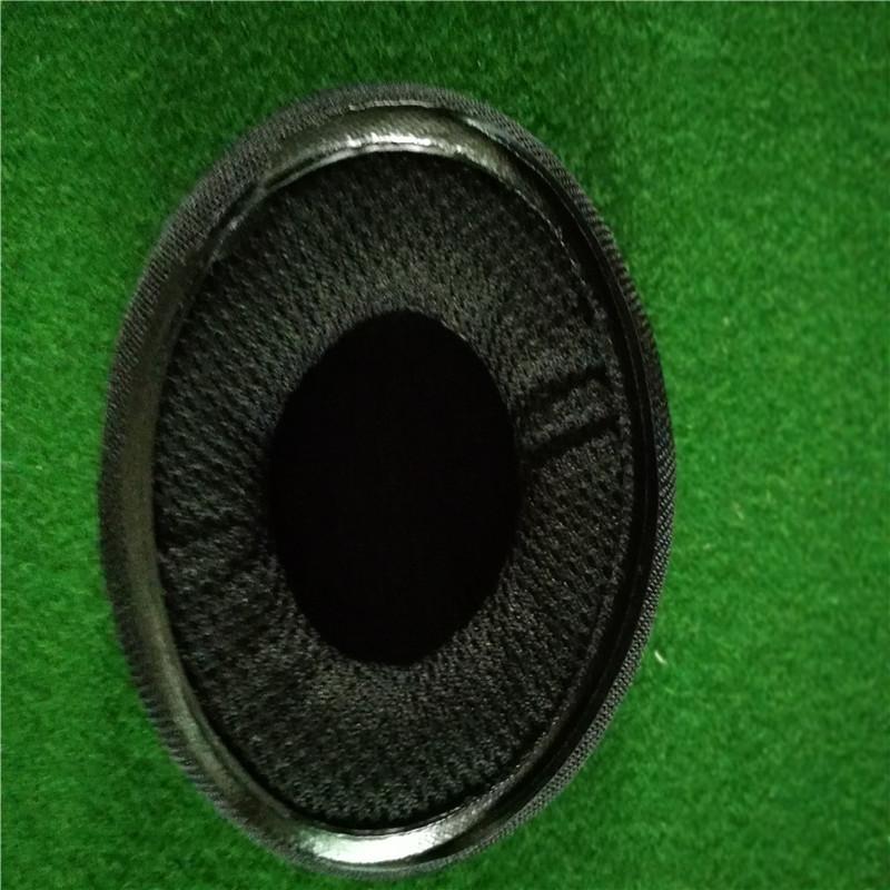 辉晟订做65mm耳机套印LOGO 热压锁底边网布海绵皮耳套