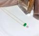 2018新款網紅簡約進口14K注金 海水珍珠 翡翠項鏈飾品批發