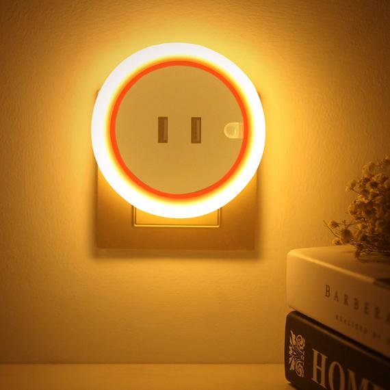 供应 创意插座小夜灯婴儿喂奶梦幻遥控插电台灯卧室床头智能家用节能款