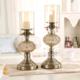 供应 欧式水晶玻璃摆件 金属烛台工艺品 家居餐桌装饰品
