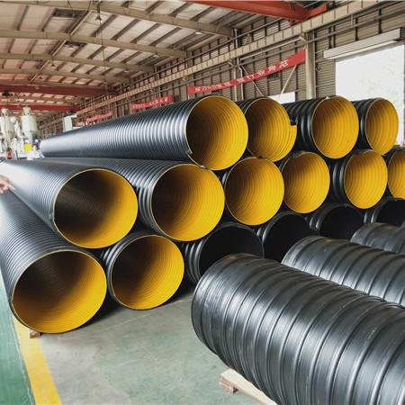 孟津县道路排水钢带管 钢带增强波纹管厂家报价