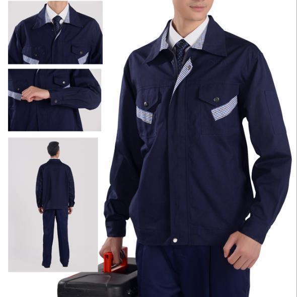 供应 X319涤棉加厚珠帆(磨毛)套装工作服工装制服