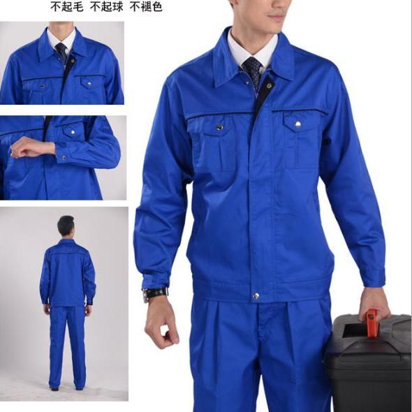 供应 X103涤棉加厚纱卡工作服工装 套装