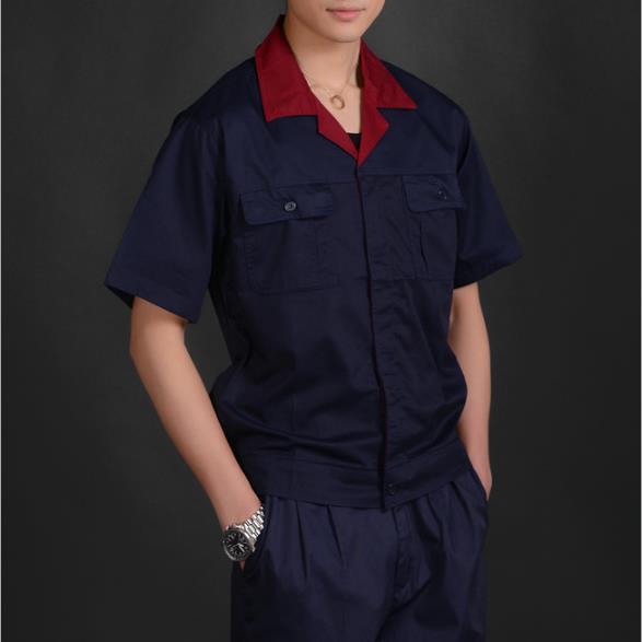 供应 2322涤棉细斜纹 上衣工作服 工装 夏装
