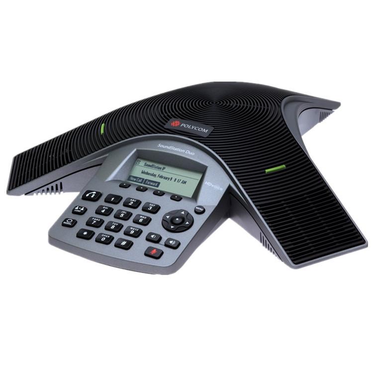 深圳IP电话代理 宝利通SoundStation Duo模拟 IP双线路会议电话机