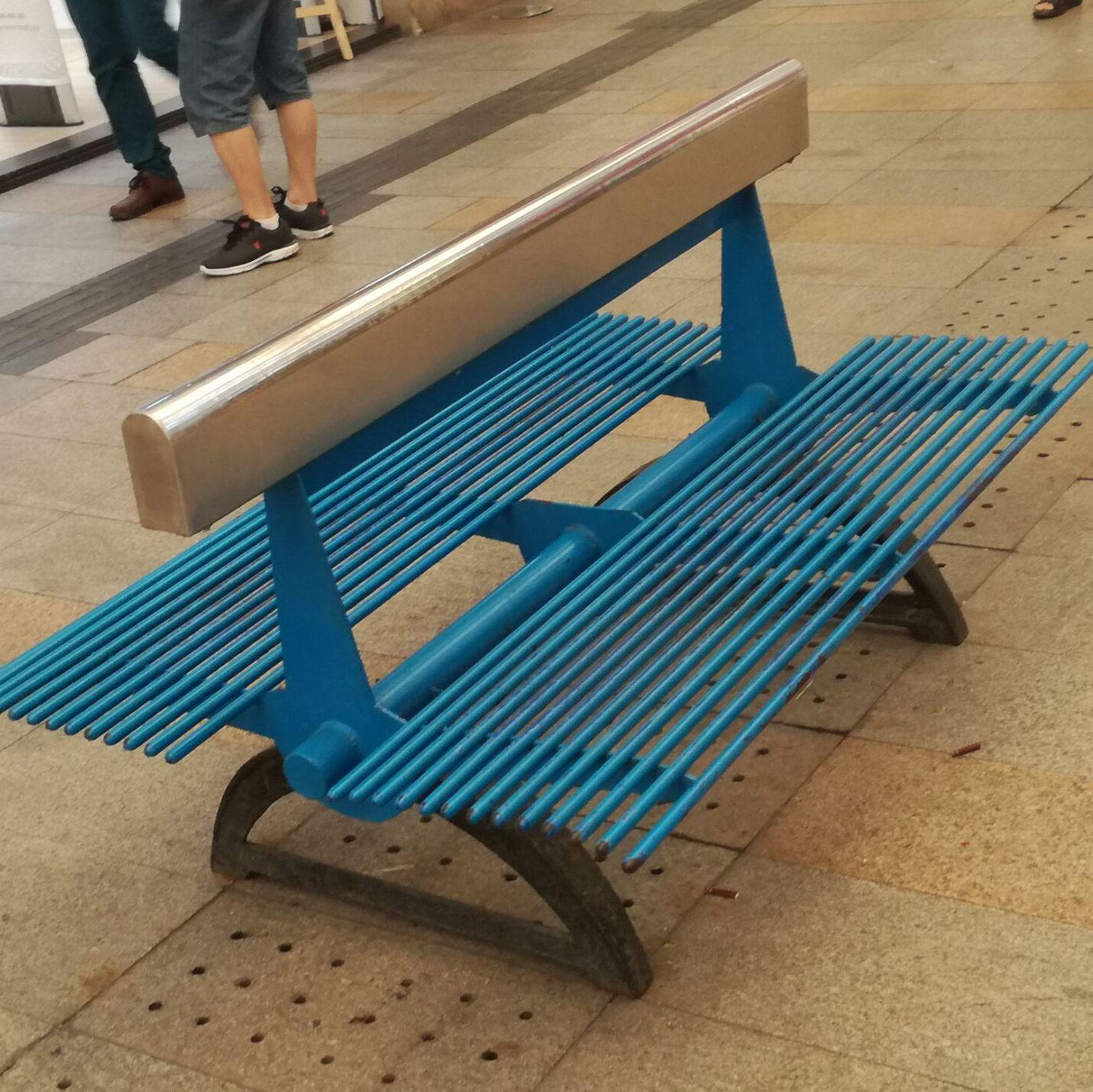 全铁艺公园椅子 花园休闲靠背椅 弧形广场铁艺座椅