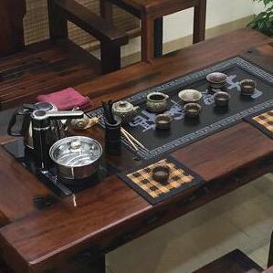 老船木茶台批发船木茶桌椅组合实木泡茶桌功夫茶台