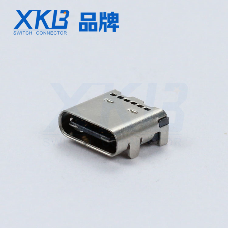 XKB厂家  TYPE C母座 侧面操作24PIN U262-24XN-4BV64