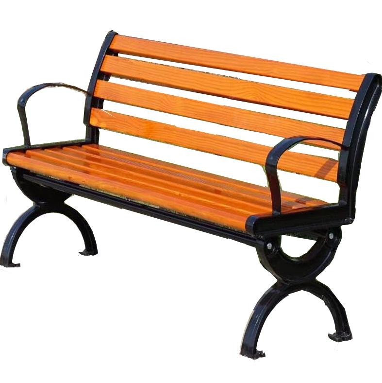 简约款式公园椅 靠背长椅户外 铸铁椅脚