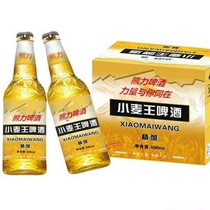 供應熊力500ml小麥王易拉罐啤酒整箱啤酒