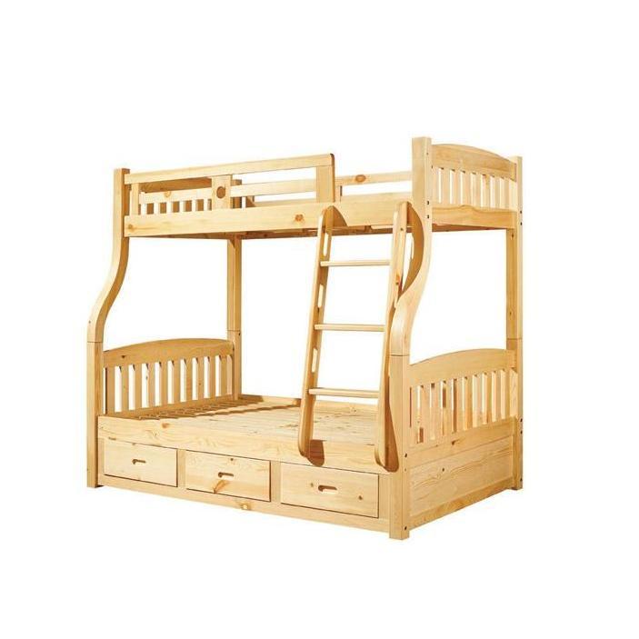 利丰园实木榉木子母床双层上下铺家具